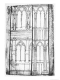 Exterior and Interior Elevation of the Lateral Walls of Reims Cathedral Giclée-Druck von Villard de Honnecourt