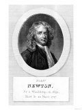 Portrait of Sir Isaac Newton (1642-1727) Giclee Print