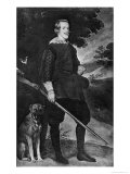 Portrait of Philip IV (1605-65) King of Spain Like a Hunter, 1632-36 Giclee Print by Diego Velázquez