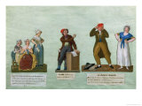 The Jacobin Knitters, a Jacobin and the Red Bonnet Giclee Print by  Le Sueur Brothers