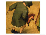 Children's Games, Detail of Bottom Section Showing a Child and a Hobby-Horse, 1560 Giclee Print by Pieter Bruegel the Elder