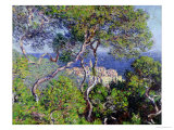 Villas à Bordighera, 1884 Reproduction procédé giclée par Claude Monet