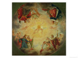 Glory of St. Genevieve, Study for the Cupola of the Pantheon, circa 1812 Giclee Print by Antoine-Jean Gros