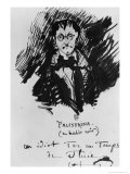 Palestrina in a Black Suit Giclee Print by Charles Pierre Baudelaire