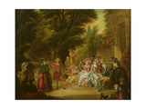 The Minuet under the Oak Tree, 1787 Premium Giclee Print by Francois Louis Joseph Watteau