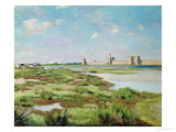 The City Walls of Aigues-Mortes, 1867 Premium Giclee Print by Frederic Bazille