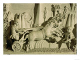 Relief Depicting a Chariot Race Giclee Print