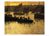 In the Port, 1895 Giclee Print by Charles Cottet