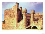 Ruins of the Castle of the Knights Templar, Ponferrada, Spain Premium Giclee Print