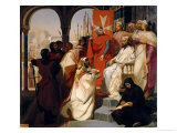 Knights of the Order of St. John of Jerusalem Restoring Religion in Armenia in 1347, 1844 Giclee Print by Henri Delaborde