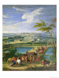 The Town and Chateau of Versailles from the Butte De Montboron, Where Louis XIV (1638-1715) Premium Giclee Print by Jean-Baptiste Martin