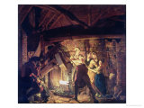 The Iron Forge, 1772 Giclee Print by Joseph Wright of Derby