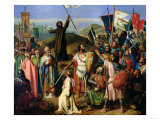 Procession of Crusaders Around Jerusalem, 14th July 1099, 1841 Giclee Print by Jean Victor Schnetz