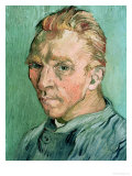 Self Portrait, c.1889 Reproduction procédé giclée par Vincent van Gogh