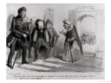 "Dumas, Hugo Et Balzac Seeking Their Admission to the French Academy, Illustration from ""La Mode"" Giclee Print by Benjamin Roubaud"