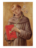 St. Anthony of Padua Giclee Print by Bartolomeo Vivarini