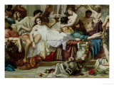 The Romans of the Decadence, Detail of the Central Group, 1847 Giclee Print by Thomas Couture