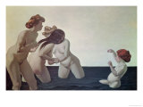 Three Women and a Young Girl Playing in the Water, 1907 Gicl&#233;e-Druck von F&#233;lix Vallotton