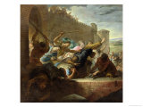 Expulsion of the Huguenots of Toulouse after the Capture of the Town Giclee Print by Antoine Rivalz