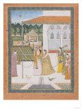 A Couple Walking, Pahari School Giclee Print