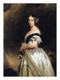 Queen Victoria (1837-1901) 1842 Giclee Print by Franz Xavier Winterhalter