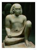 Crouching Figure of Bes (Limestone) Giclee Print