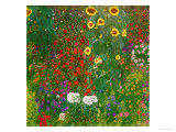 Garden with Sunflowers, 1905-6  Lmina gicle por Gustav Klimt
