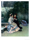 Two Spanish Women Giclee Print by Ricardo de Madrazo y Garreta