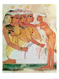 The Women's Toilet, from the Tomb of Nakht, New Kingdom, circa 1400 BC (Wall Painting) Premium Giclee Print