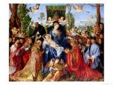 The Festival of the Rosary, 1506 Reproduction procédé giclée par Albrecht Dürer