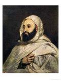 Portrait of Abd El-Kader (1808-83) Giclee Print by Jean Baptiste Ange Tissier