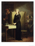 Queen Marie Antoinette in the Conciergerie: the Prayer Table, 1856-57 Giclee Print by Charles Louis Lucien Muller