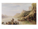 Jacques Cartier (1491-1557) Discovering the St. Lawrence River in 1535, 1847 Giclee Print by Baron Theodore Gudin