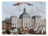 The Stock Exchange, Amsterdam, 1743 Giclee Print by Francois van Bleyswyck