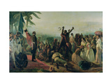 Proclamation of the Abolition of Slavery in the French Colonies, 23rd April 1848, 1849 Giclee Print by Francois Auguste Biard
