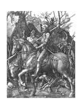 The Knight, Death and The Devil , c.1514 Giclée-tryk af Albrecht Dürer