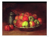 Still Life with Apples and a Pomegranate, 1871-72 Giclee Print by Gustave Courbet