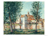 The Loing at Moret, September Morning Giclee Print by Alfred Sisley