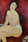 Desnudo sentado en un diván Lámina giclée por Amedeo Modigliani