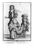 The Summer City Dress, 1678 Giclee Print by Nicolas Bonnart