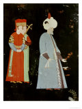 The Sultan Suleyman the Magnificent (1494-1566) with Two Dignitaries Giclee Print by Nakkep Reis Haydar