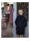 Interior with Women and a Child Giclee Print by Paul Mathey