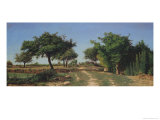 Path Through the Apples Trees Giclee Print by Antoine Chintreuil