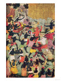 Battle Between the Armies of Rama and Ravana, Moghul Giclee Print