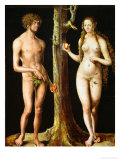 Adam and Eve Giclee Print by Lucas Cranach the Elder