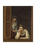 Women from Galicia at the Window, 1670 Premium Giclee Print by Bartolome Esteban Murillo
