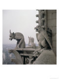Gargoyles on the Balustrade of the Grande Galerie, Replica of a 12th Century Original Giclée-Druck von Eugène Viollet-le-Duc
