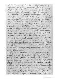 Letter to Richard Wagner (1813-83) 17th February 1860 Giclee Print by Charles Pierre Baudelaire