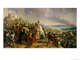 Battle of Askalon, 18th November 1177, 1842 Giclee Print by Charles-Philippe Lariviere