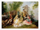 The Hunting Party Meal, circa 1737 Giclee Print by Nicolas Lancret